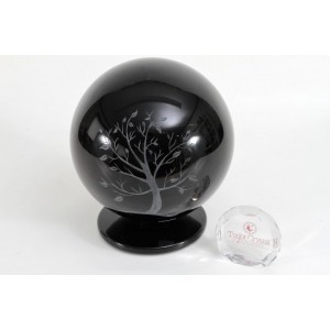 Tree of Life Glass Urn - Globe 23cm x 18cm