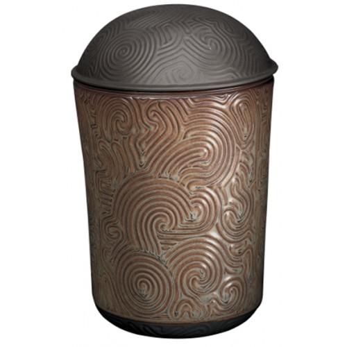 Zen Brown Porcelain Cremation Ashes Urn