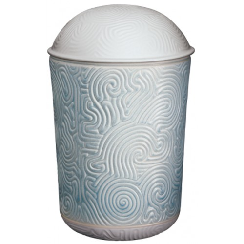 Zen Marine Porcelain Cremation Ashes Urn