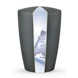 Heaven's Edition Biodegradable Cremation Ashes Funeral Urn – Peaks / Anthracite Surface