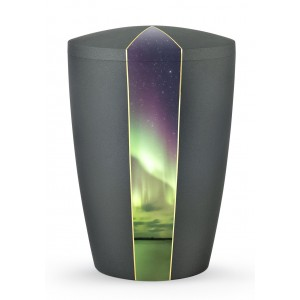 Heaven's Edition Biodegradable Cremation Ashes Funeral Urn – Light Display / Anthracite Surface