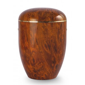 Onyx Edition Biodegradable Cremation Ashes Funeral Urn – Antique Root Wood Effect