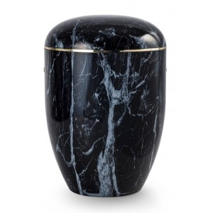 Onyx Edition Biodegradable Cremation Ashes Funeral Urn – African Ebony Effect
