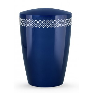 Swarovski Karat Edition Biodegradable Cremation Ashes Funeral Urn – Royal Blue