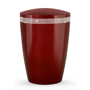 Swarovski Karat Edition Biodegradable Cremation Ashes Funeral Urn – Ruby Red