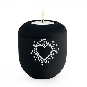 Cherished Crystal Hearts (Swarovski) Candle Holder Keepsake – Orchestra Black