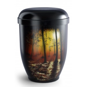 Hand Painted Biodegradable Cremation Ashes Urn – Tranquillity Forest