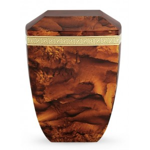 Marmor Edition Biodegradable Cremation Ashes Urn – Italian Marble Effect – Rustic Auburn Reddish Brown