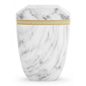 Marmor Edition Biodegradable Cremation Ashes Urn – Italian Marble Effect – Bianco White