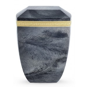 Marmor Edition Biodegradable Cremation Ashes Urn – Italian Marble Effect – Slate Grey