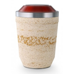 Steel Urn (Artificial Stone Coating – Beige)