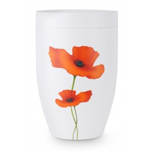 Contemporary Poppy Design Cremation Ashes Urn
