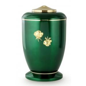 Steel Urn (Roman Rose Decoration – High Gloss Emerald Green)