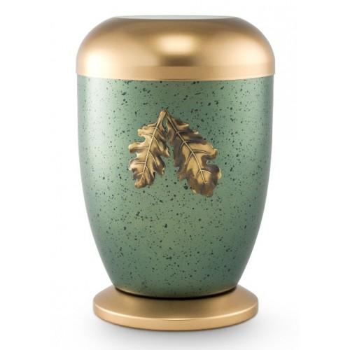 Steel Urn (Oak Leaf Design – Polar Green)