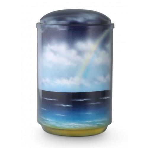 Steel Urn (Ocean Rainbow)