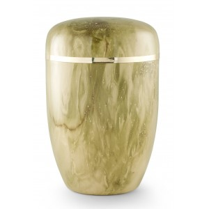 Steel Urn (Marbled Onyx Finish– Golden Trim)