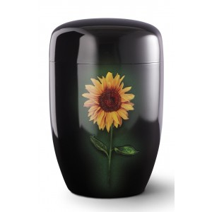 Fall in Leaves – Series Fleur Noire - Cremation Ashes Urn – SUNFLOWER