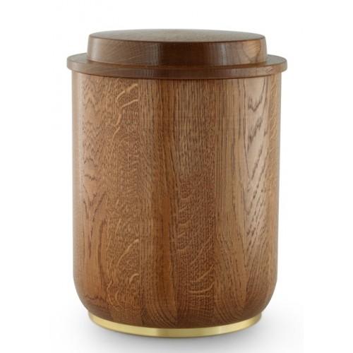 Rustic Oak Cremation Ashes Urn (Natural Hardwood)