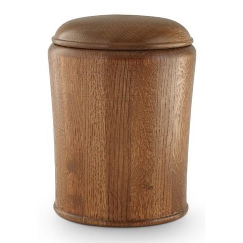 Rustic Oak Cremation Ashes Urn (Beautiful Natural Oak)