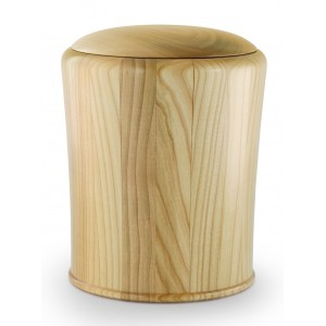 Cherry (Turned) Cremation Ashes Urn (Crafted from Quality Wood)