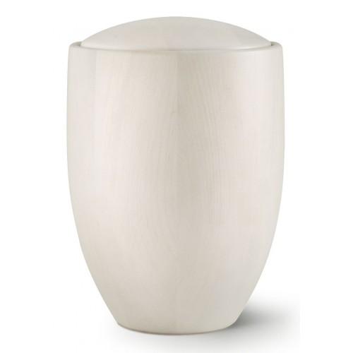 Seville Edition Cremation Ashes Urn – Hand Turned Alder Wood (Birch White)
