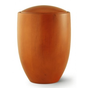 Seville Edition Cremation Ashes Urn – Hand Turned Alder Wood (Mango Hue)