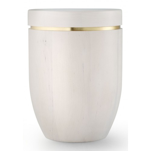Star (Stellar) Edition Cremation Ashes Urn – Hand Turned Alder Wood (Birch White Hue)