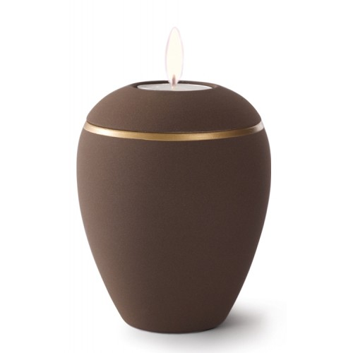 Croma Ceramic Candle Holder Keepsake Urn – COFFEE