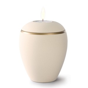 Croma Ceramic Candle Holder Keepsake Urn – CREAMY WHITE