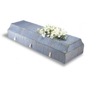 Environ Casket with Blue Banana Leaf Cover