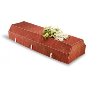 Environ Casket with Red Banana Leaf Cover -  SORRY SOLD OUT