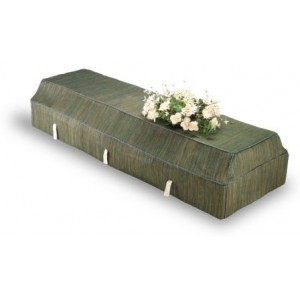 Environ Casket with Green Banana Leaf Cover