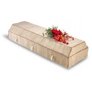 Environ Casket with Natural Banana Leaf Cover