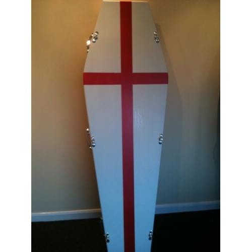 St Georges Flag Coffin  - Quality Coffins Online