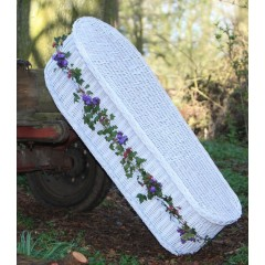 Willow Wicker (Oval) Coffin in White