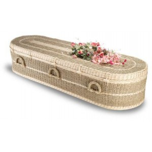 Premium Wild Pineapple (Pandanus) Imperial (Oval Style). Quality Hand-crafted Eco Coffins