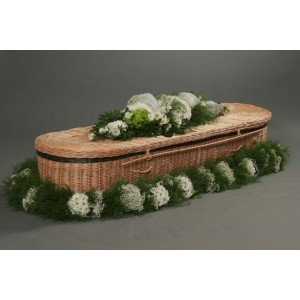 Autumn Gold Willow (Oval) Coffin.  Low Cost Funeralcare