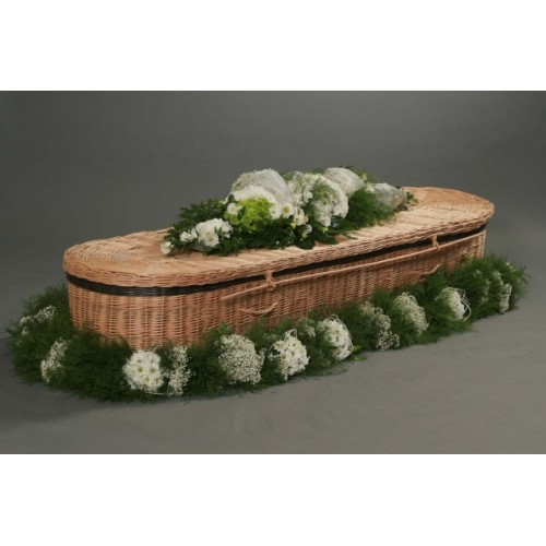 Autumn Gold Willow (Oval) Coffin - LAST FEW REMAINING - Low Cost Funeralcare
