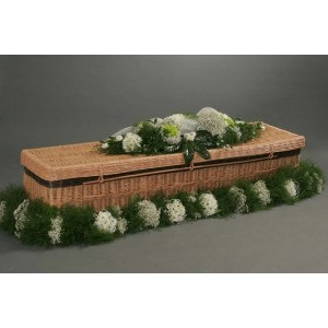 Autumn Gold WILLOW (Traditional) Coffins. THE NATURAL CHOICE