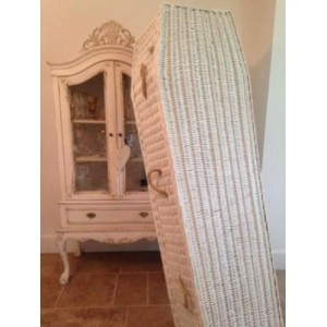 Autumn Gold Purity Wicker Willow (Oval / Traditional ) White Coffins - OVER 70% OFF LAST FEW