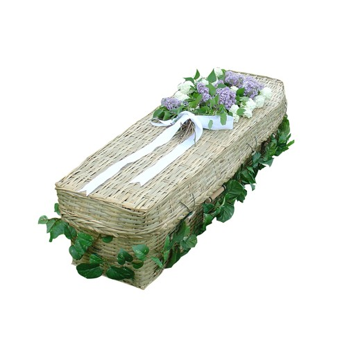Vintage BAMBOO Sovereign (Traditional Style) Coffin. Craftsmanship to the Highest Eco Friendly Standards