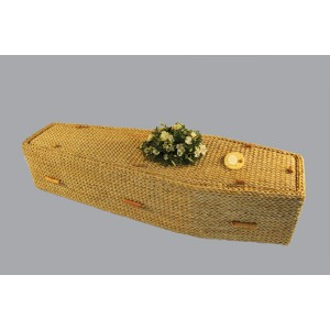Premium Banana Leaf Sovereign (Traditional Style) Coffin. Please call for best prices