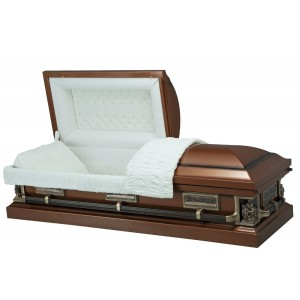 The Last Supper - Premium 18 Gauge Steel American Casket – Luxurious Almond Velvet Interior