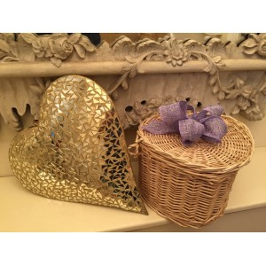 Autumn Gold Heart Shape Cremation Ashes Casket - ETERNAL BOW COLLECTION (LILAC PETAL)