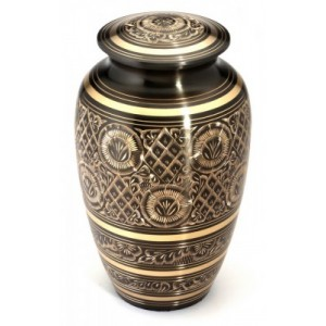 "Large Brass Urn 10"" (Gloucester Black Pewter UU100002B 210 CI)"