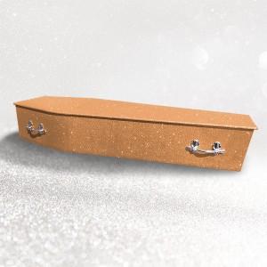 Glittering Wooden Coffin – Summer Orange **LIMITED OFFER - FREE Personalisation & Photo's**