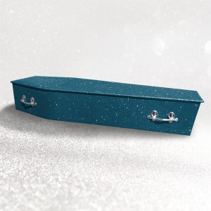 Glittering Wooden Coffin – Indigo (Dark) Blue **LIMITED OFFER - FREE Personalisation & Photo's**