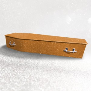 Glittering Wooden Coffin – Autumn Bronze **LIMITED OFFER - FREE Personalisation & Photo's**