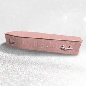 Glittering Wooden Coffin – Rose Gold **LIMITED OFFER - FREE Personalisation & Photo's**