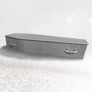 Glittering Wooden Coffin – Gunmetal Grey **LIMITED OFFER - FREE Personalisation & Photo's**